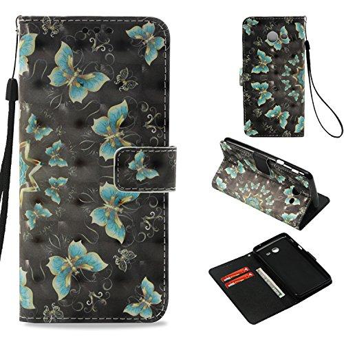 Samsung Galaxy J3 Emerge/J3 2017/J3 Prime/J3 Mission/J3 Eclipse/J3 Luna Pro/Amp Prime 2/Express Prime 2 Case, UZER 3D PU Leather Kickstand Card Holder ID Slot Money Pocket Wallet Case