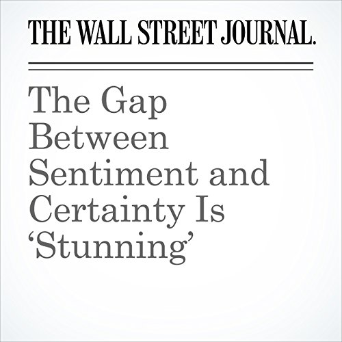 The Gap Between Sentiment and Certainty Is 'Stunning' cover art