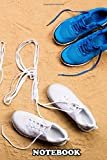 Notebook: Blue Running Shoes And Run Sign Made Of Shoelaces Again , Journal for Writing, College Ruled Size 6' x 9', 110 Pages