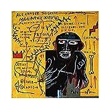 《Reparto de todos los colores》 Jean-Michel Basquiat Lienzos Decorativos   Cuadros Decoración Dormitorios   Cuadros Decoración Salón   Cuadros y láminas (50x50cm (20x20inch), Sin marco)
