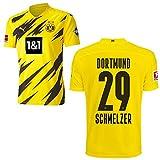 PUMA Borussia Dortmund BVB Heimtrikot 2020 2021 Home Trikot Sponsor BL Logo Herren Marcel Schmelzer 29 Gr M