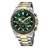 JAGUAR Reloj Modelo J873/2 de la colección Executive, Caja de 46,5 mm Verde con Correa de Acero Bicolor para Caballero