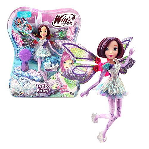 Winx Club Tecna | Tynix Fairy Puppe Fee mit magischem Gewand | Staffel 7