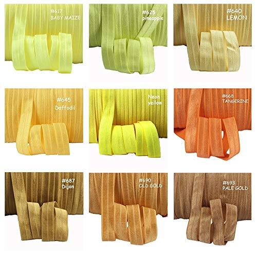(50Y / lot) Più di 100 colori prezzo all'ingrosso diretto in fabbrica solido ripiegabile elastico, 820 a lume di candela, 15mm