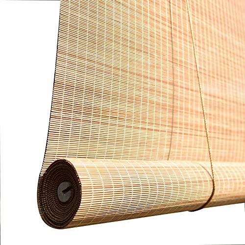 SFSGH Cortinas de bambú-persianas de bambú al Aire Libre, sombrilla/Aislamiento térmico, Resistente a la Lluvia, Transpirable, Cortinas para Cortinas, decoración del hogar, habitación