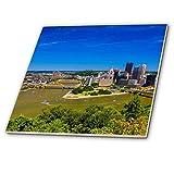 3dRose ct_259959_4 Aerial View of The City, Pittsburgh, Pennsylvania Ceramic Tiles