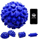 WAVE5 Deep Tissue Trigger Point myofascial Release 5-in1 to + app Muscle & Joint Pain Relief: Headache, Plantar Fasciitis, Lower Back and More! Replaces a Massage Ball, Lacrosse Ball & Foam Roller