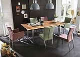 SAM Baumkantentisch 120x80 cm Quarto, Esszimmertisch aus Akazie, Holz-Tisch mit Silber lackierten Beinen - 4