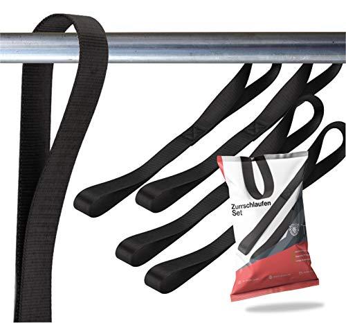 TK Gruppe Timo Klingler 5X Zurrschlaufen - Schlaufen 30 cm Dopelschlaufen Rundschlinge Halteband zur Befestigung bei Transport Motorrad, Ladungssicherung (5X)