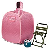 WILLOWYBE Portable Personal Steam Sauna Home Spa, an Indoor Steam Sauna for Lose Weight, Detoxify and Therapeutic