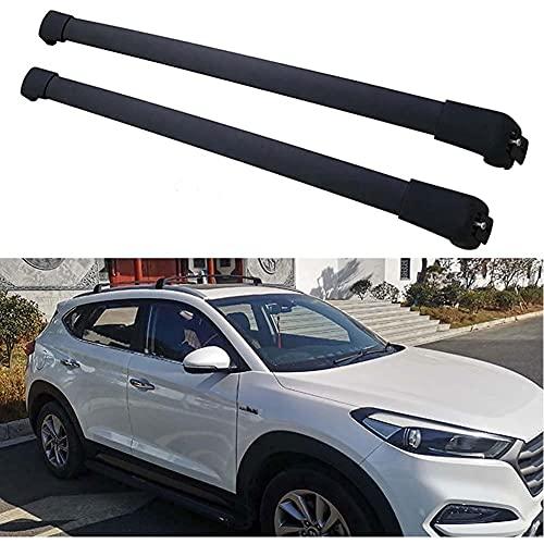Barra De Techo De Aluminio Para Hyundai Tucson 2015-2019, 2 Piezas Barras Portaequipajes Para Coche Transporte De Carga AnticorrosióN Barra Transversal De Equipaje Para Techo