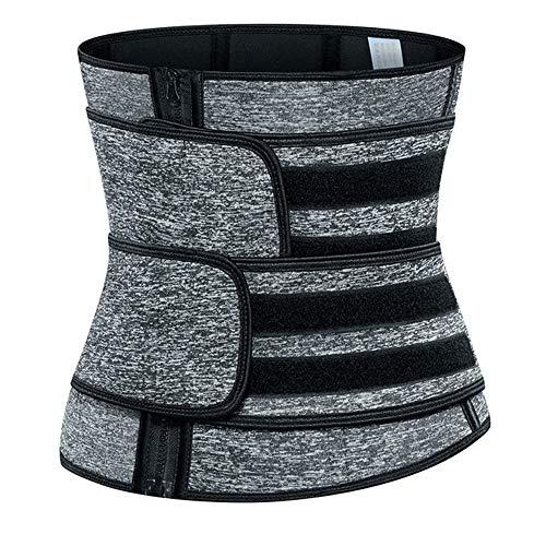 LTTA Shapewear, di Donne Post-Partum Riparazione Cintura Doppio Rinforzo Cintura Addominale Sport Corsetto Neoprene Corsetto Sweat Belt,Grigio,5XL