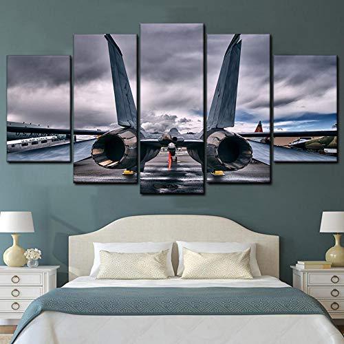 KOPASD Art Impresión Lienzo,Tamaño Grande, Fuerza Aérea de los Estados Unidos -200x100cm Diseño Profesiona/5pcs(Sin Marco)