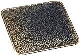 Kamino - Flam ? Placa protectora contra chispas (50 x 60 cm), Antichispas de suelo para chimenea, Protector para chimeneas ? resistente a altas temperaturas ? latón viejo
