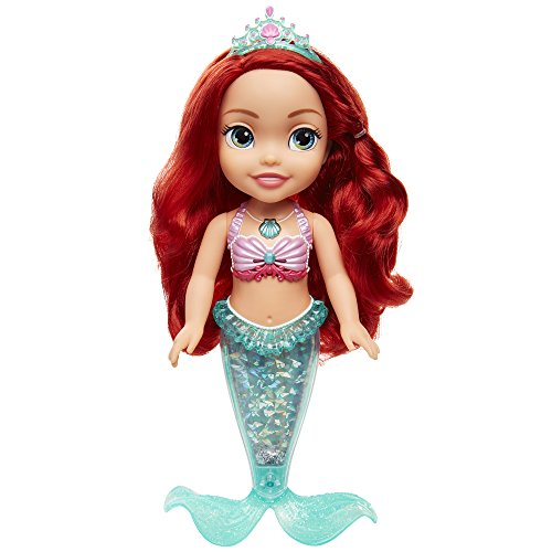 Glop–Prinzessin Ariel Puppe 35cm mit Licht und Glitzer., Mehrfarbig