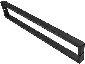 Puxador Inox U Para Porta Pivotante Preto Fosco 70cm