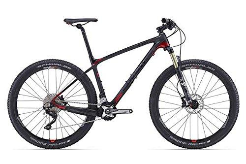 Bicicleta de montaña Giant XTC Advanced 2, 27,5 pulgadas, negro/rojo (2016), 39