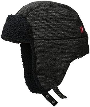 Levi s Men s Warm Winter Trapper Hat Micro Box Black Small/Medium