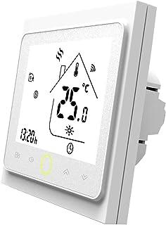 MOES Termostato inteligente WiFi con control de temperatura Smart Life/Tuya APP, mando a distancia para agua y gas, calent...
