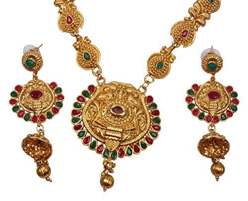 vergoldet Kundan padmawati Halskette Ohrringe Brautschmuck Set indischen Bollywood Fashion Jewellery