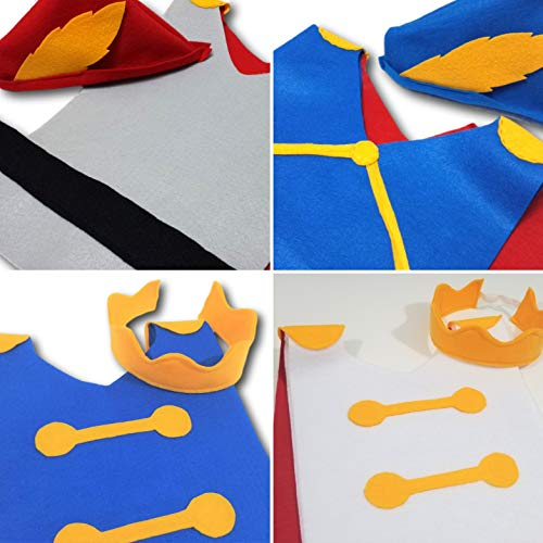 Baby Set of 4 Disney Prince Costume Tunics (Cinderella Prince Charming, Snow White Prince, Belle's Beast, Sleeping Beauty's Prince Phillip) - Baby/Toddler/Kids/Teen/Adult Sizes