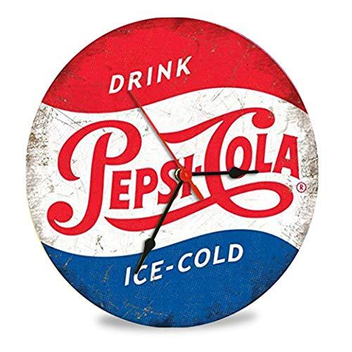 The Shizzle Print Co Pepsi-cola - Reloj retro de cristal