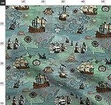 Landkarte, Pirat, Maritim, Diagramm, Anker Stoffe -