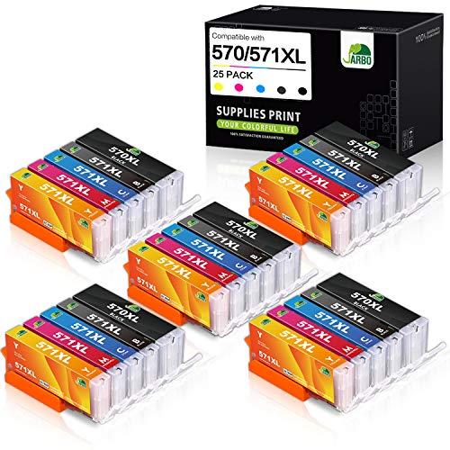 JARBO PGI-570XL CLI-571XL Cartuchos Compatible para Canon 570 571 PGI-570 CLI-571 Cartuchos de Tinta para Canon PIXMA MG5750 MG5751 MG5753 MG6850 MG6851 TS5050 TS5051 TS5053 TS5055 TS6050 TS6051