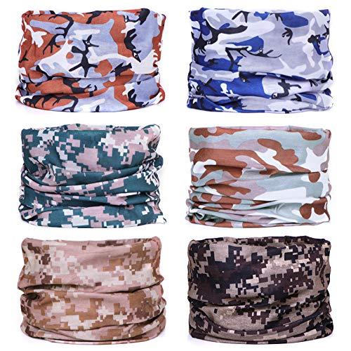 FAYBOX BRIDAL Multifunktionstuch Rohr Kopfbedeckungen Bandana Schal Elastische Halstücher für Yoga, Wandern, Reiten, Motorradfahren Camouflage