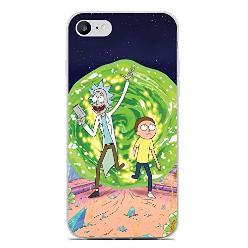 Mosku Ultra Thin Clear Soft Rubber Anti-Shock Protective Phone Case Cover for Apple iPhone 6/6s-Rick-Morty 10