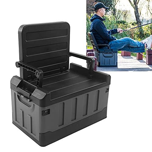 Caja de almacenamiento para automóvil, 200 kg / 441 lb Silla portátil con soporte de carga Suficientemente liviana con asa de hebilla interior desmontable para amigos para caminar como