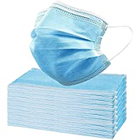 50-Pack 3-Ply Breathable & Comfortable Disposable Face Masks
