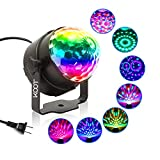 Party Lights - KOOT Disco Ball Sound Activated Disco Dance Lights with Remote, Magic LED DJ Lights 7 Colors Mode RGB Strobe Lights for Home Room Kids Xmas Party Bedroom Bar Club Show