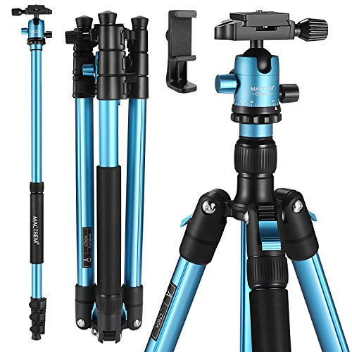 MACTREM Professional Camera Tripod with Phone Mount, 62
