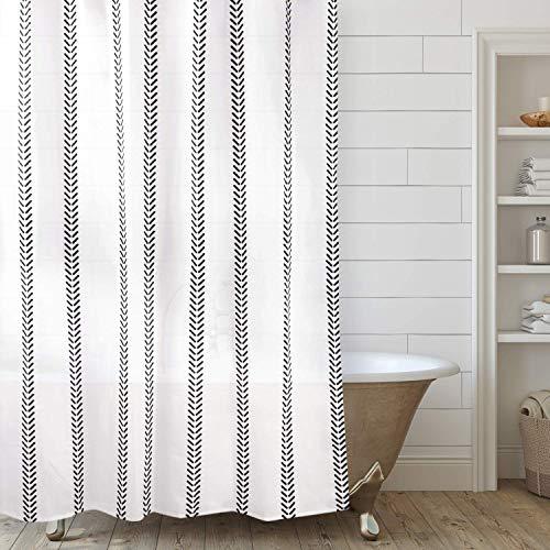 Varato Design Boho Shower Curtain Set with 12 Hooks Modern Shower Curtain 72 x 72 Inches (72 x 72 Inches)