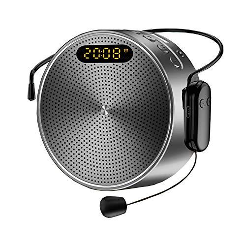 Amplificador de Voz Portátil 15W Bluetooth Personal Pa System con Micrófono inalámbrico...