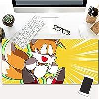 マウスパッド漫画リス拡張大型マウスパッドノンスリップラバーベース流出耐性とほつれ防止ステッチエッジキーボード900X400mm