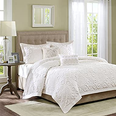 Harbor House Suzanna Duvet Cover Full/Queen Size - Ivory, Medallion Duvet Cover Set – 3 Piece – Cotton Light Weight Bed Comforter Covers