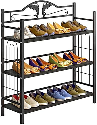 Estilo moderno Zapato Dormitorio Dormitorio Multi-capa Simple Polvo a prueba de polvo Zapato de zapatos, puerta de montaje económico Pequeño gabinete de zapatos, espacio de estante de almacenamiento,
