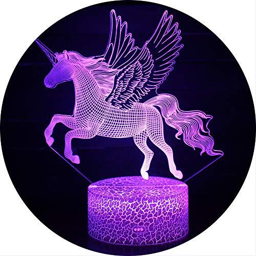 Ray-Velocity 3D Einhorn Illusion Lampe Nachtlicht optische Täuschung Lampe Schreibtischlampe Tischlampe 7 Farben für Schlafzimmer Kinder Weihnachts Valentine Geburtstag geschenk (A2)