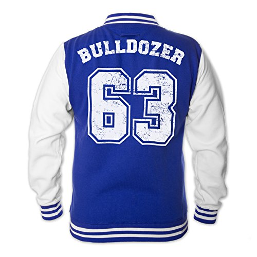 Bud Spencer Herren Bulldozer 63 College Jacket (blau) (XL)