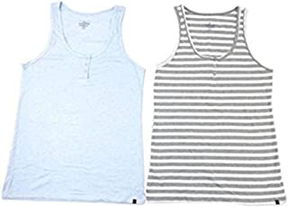 Women's 2 Pack Henley Tank Variety Size and Color (Large,...