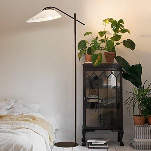MILUCE Américain Simple Tissu Lampadaire Salon Lumières Lampe D'étude Europe du Nord Blanc Canapé Lumières Chambre Lumières Chaud (Couleur : Bronze)