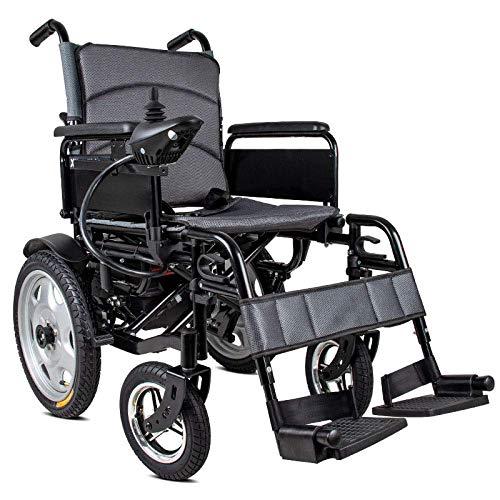 WXDP Silla de Ruedas autopropulsada,Scooter eléctrico, Inteligente, automático, para Ancianos, discapacitados, de Cuatro Ruedas, Negro