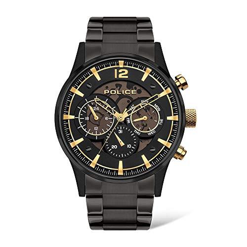 Police Watches Smart Reloj para Hombre Analógico de Cuarzo con Brazalete de Acero Inoxidable PL.14383JSB-02MA