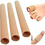 3x Zehenschutz Zehenkappen Zehentrenner Schlauchbandage Silikon Fingerbandage Fingerschutz Zehenpolster Zehenbandage -