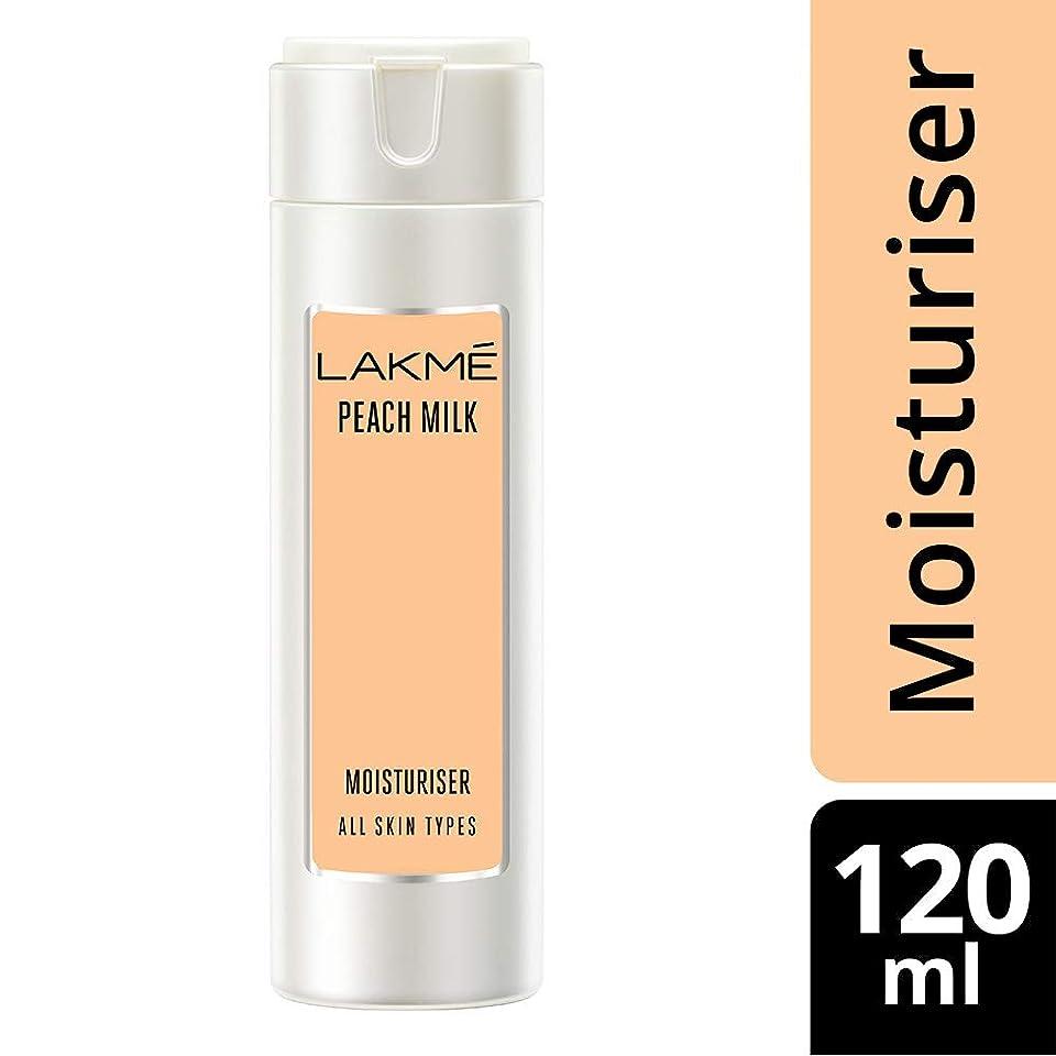 あいまいな花婿無能Lakme Peach Milk Moisturizer Body Lotion, 120ml