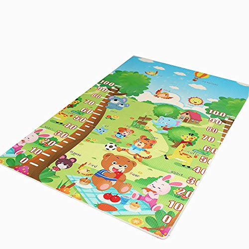 Fang Baby-speelmat, van zacht schuimrubber, speelmat voor baby's, groot, mat, waterdicht, antislip, geschikt voor baby's