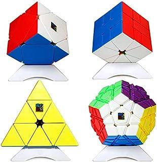 ALISSA 4 Pcs Speed Cube Bundle, Rubik's Cube Kids Adult Gift Box