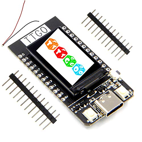ICQUANZX T-Display ESP32 WiFi and Bluetooth Module Development Board for 1.14 Inch LCD